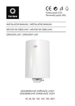 ohřívač vody q-termo trend 30-200l