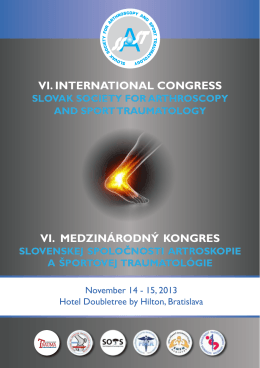 stiahnuť .pdf - Úvod - Slovenská Spoločnosť Artroskopie a Športovej