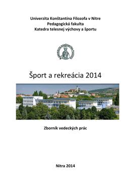 Atletika 2008 - Katedra telesnej výchovy a športu PF UKF v Nitre