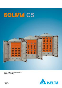 Návod na prevádzku a inštaláciu SOLIVIA CS EU G3