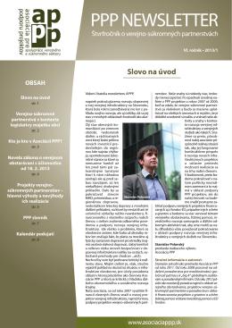 ppp newsletter 1/2013