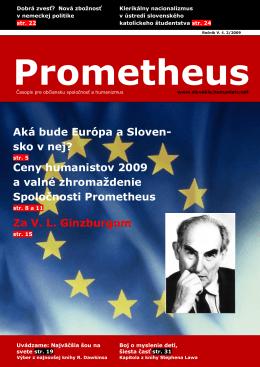časopis PROMETHEUS - Spoločnosť Prometheus