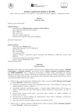 Zmluva o poskytnutí služieb č.02 / 2012