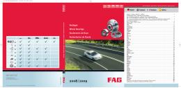 Osobné automobily ložiská FAG