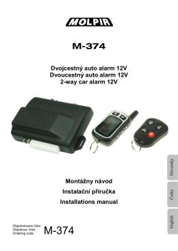 M-374 Dvojcestný auto alarm 12V Dvoucestný auto alarm