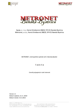 cenníku - Metronet