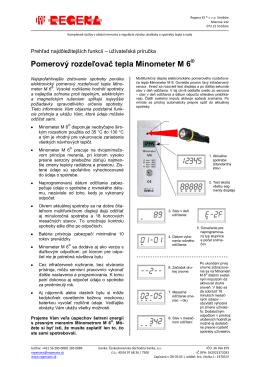 Minometer M6 - užívateľská príručka a návod na odpočet