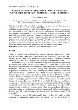 LYKOŽRÚT SMREKOVÝ (IPS TYPOGRAPHUS) A JEHO