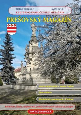 Prešovský magazín apríl 2014