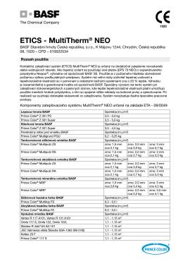 ETICS - MultiTherm® NEO