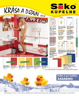 7,99 €/m2 - SIKO KOUPELNY CMS