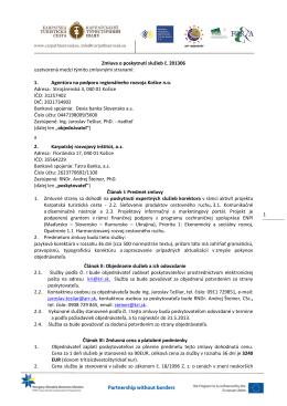 201306 - Agentúra na podporu regionálneho rozvoja Košice, no