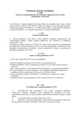 Všeobecné záväzné nariadenie