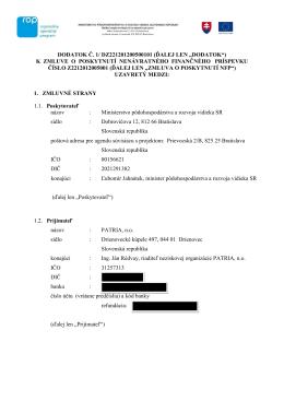 """DODATOK Č. 1/ DZ221201200500101 (ĎALEJ LEN """"DODATOK"""") K"""