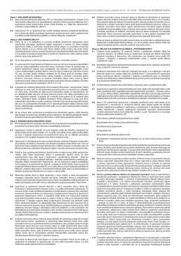 Úverové podmienky pre zmluvy uzatvorené od 31. 10. 2012