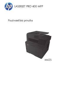 HP LaserJet Pro 400 MFP M425 User Guide
