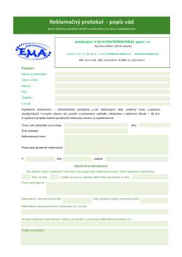 Reklamačný formulár - ema