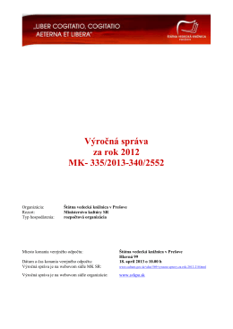 2012 - Ministerstvo kultúry SR