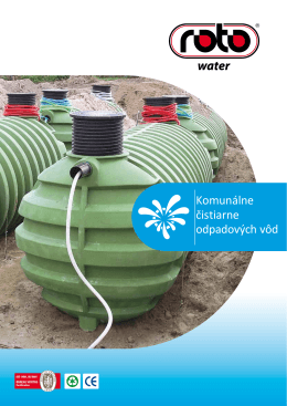 Katalóg - Komunálne čistiarne odpadových vôd