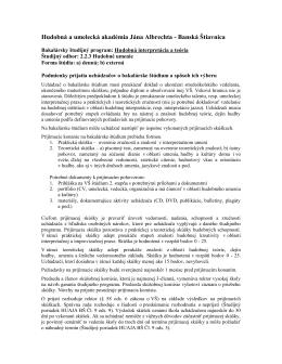Podmienky prijatia a požiadavky_Bc._HIT