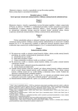 MP na vykonávanie EK administratívnej a zvláštnej