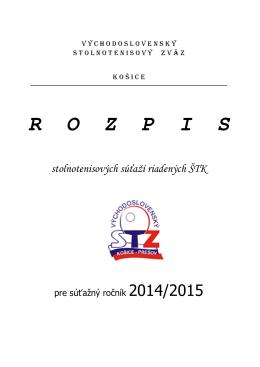 Bulletín VsSTZ 2014-2015 na stiahnutie