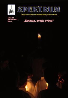"""""""Kristus, svetlo sveta!"""" - Rímskokatolícka farnosť Víťaz"""