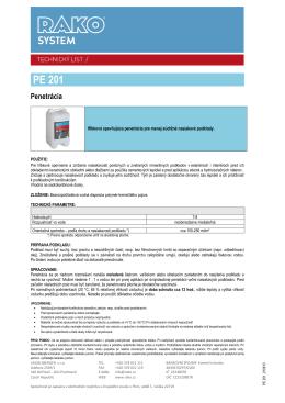 Penetračný náter PE 201 (pdf, 237 kB)