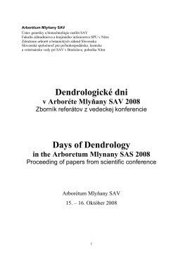 DD2008.pdf - Arborétum Mlyňany SAV