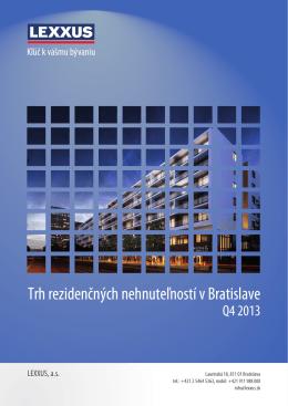 Trh rezidenčných nehnuteľností v Bratislave