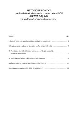 Metodické pokyny ISCP
