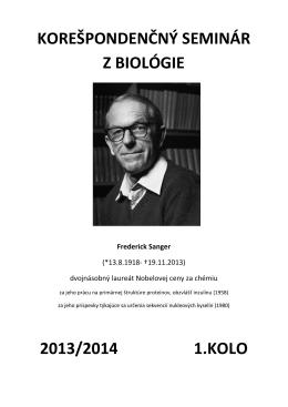 1.kolo - Korešpondenčný seminár z biológie