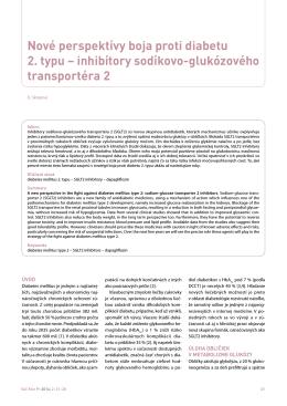Nové perspektívy boja proti diabetu 2. typu – inhibítory sodíkovo