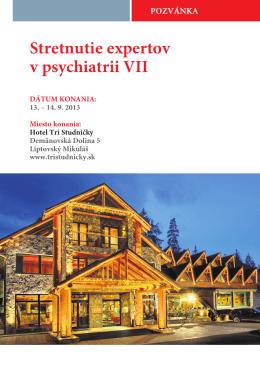 Stretnutie expertov v psychiatrii VII