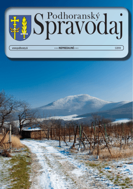 05 / 2010 - Podhoranský spravodaj
