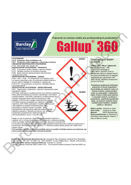 Gallup® 360 Label - Barclay Chemicals