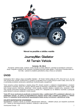 JourneyMan Gladiator All Terrain Vehicle