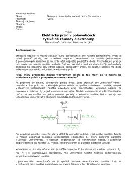 Teória - Elektrický prúd