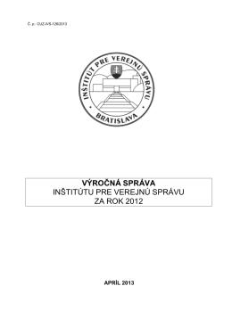 Výročná správa IVS za rok 2012
