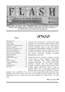Nové číslo školského časopisu - SOŠ obchodu a služieb