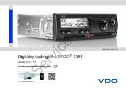 Digitálny tachograf – DTCO 1381