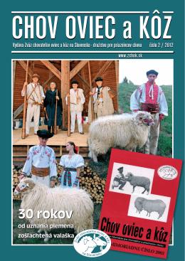 Číslo 02/2012 - Zväz chovateľov oviec a kôz na Slovensku