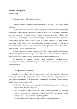 Geografia - ZŠ Hroncova 23