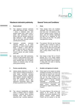Všeobecné obchodné podmienky General Terms and