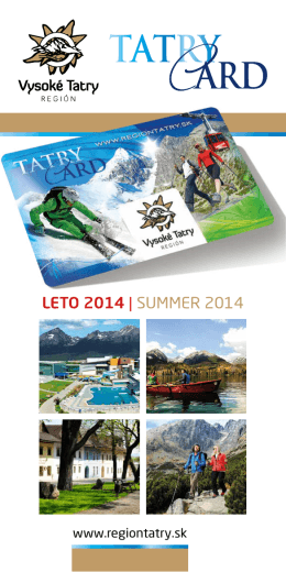 TATRY Card - Región Vysoké Tatry