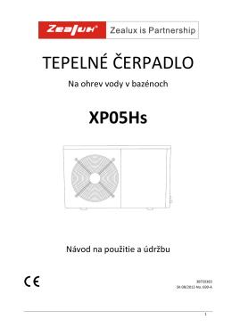 TEPELNÉ ČERPADLO XP05Hs