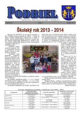 2013-2 - Obec Podbiel