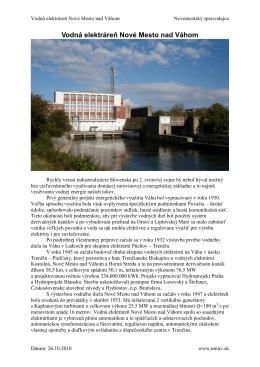 Vodná elektráreň Nové Mesto nad Váhom