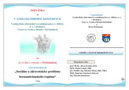 Sociálne a zdravotnícke problémy hornonitrianskeho regiónu