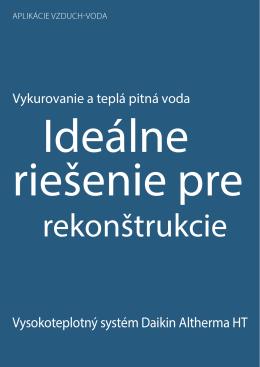 Vysokoteplotný systém Daikin Altherma HT